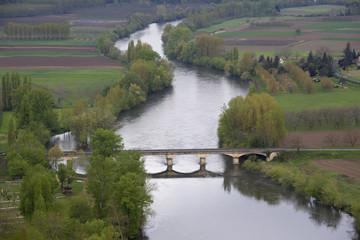 """Bridge over river, Dordogne"""