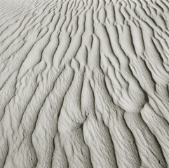 Close up of patterns in sand