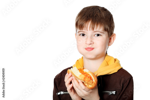 eating teenager