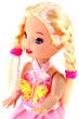petite poupée blonde, fond blanc