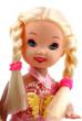 poupée blonde sur fond blanc