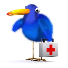 3d Blue bird doctor
