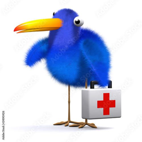 3d Blue bird doctor