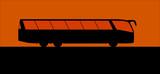Coach bus silhouette vector poster