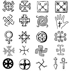Crosses vector. various religious symbols