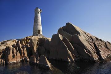 Italy, Sardinia, Maddalena archipelago, lighthouse