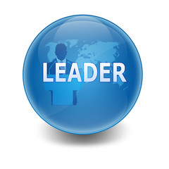 "Esfera brillante con texto ""LEADER"""
