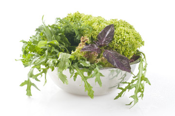 Fresh raw herbs