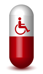 Handicapped Sign Capsule Pill