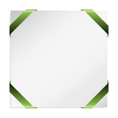 green corner ribbon vector illustration for your design