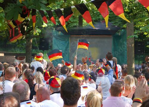 Leinwanddruck Bild Deutschlandspiel