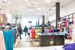 Leinwanddruck Bild - modern clothes shop