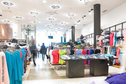 Leinwanddruck Bild modern clothes shop
