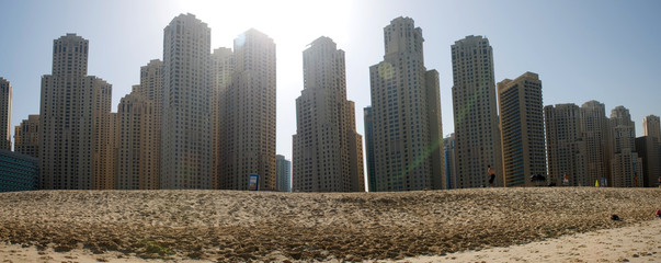 Dubai beach skyline