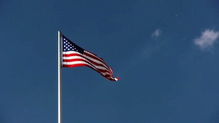 US Flag in the Wind