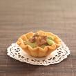 foie gras and broad bean mousse tartlet