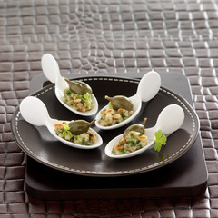 eggplant puree with pine nuts and capers