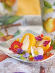 medlar with white ganache and vanilla