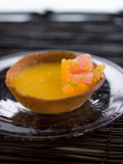 citrus fruit tartlet