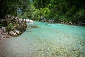Beautiful emerald river Soca