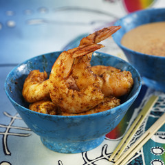 shrimps marinated with spices