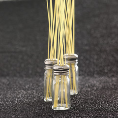 spaghettis in saltcellars