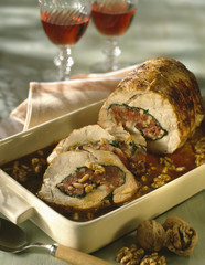 roast veal stuffed with dried fruit