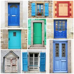 finestre e portoni collage