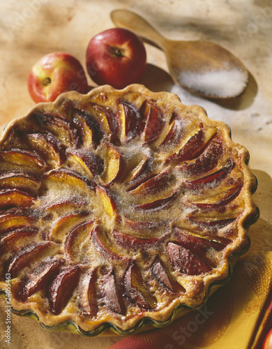 nectarine and spice tart