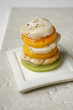 scallop and mango mille-feuille