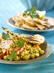 tabbouleh with peas