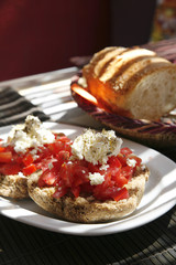 cretan feta toasts