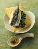 sardine and parsley pie