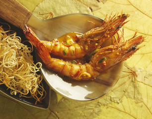 gambas in spicy sauce