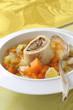 vegetable soup with marrow bone