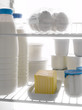 dairy products in the refrigerator