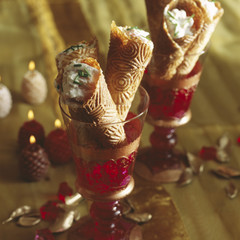 smoked trout mousse cones