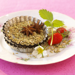 strawberries and aniseeds