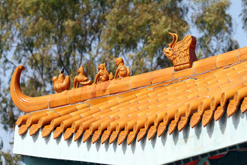 Chinese architecture Port Aventura Spain