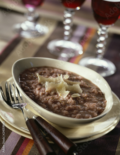 red wine risotto