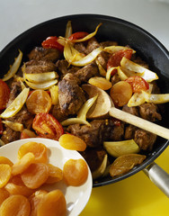 lamb with dried apricots and spices