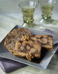 foie gras and walnut terrine
