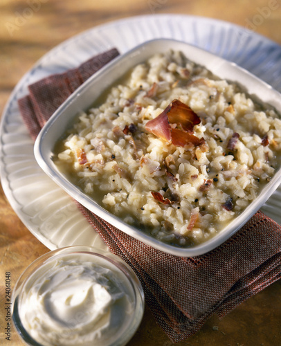 speck and mascarpone risotto