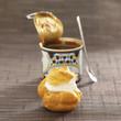 chestnut cream and whipped cream puff