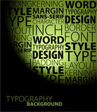 design and typography background poster