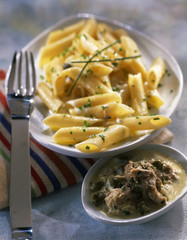 penne with tuna and caper sauce