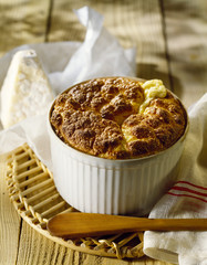 goat's cheese soufflé