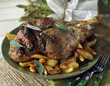 leg of lamb with sage