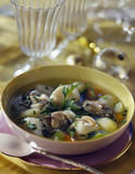 scallop and oyster pot-au-feu cooked with chablis wine