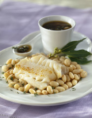 cod with haricot beans